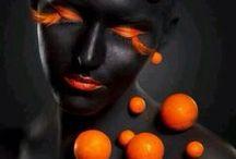 nero e arancione