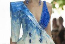 bianco/argento e azzurro/blu