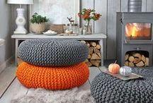 arancione e grigio
