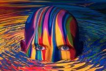 """De colores / """"Piensa que el futuro es una acuarela, y tu vida un lienzo que colorear."""""""