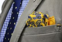 Pocket Plumage / Pocket squares and handkerchiefs for adding flair to men's jackets.