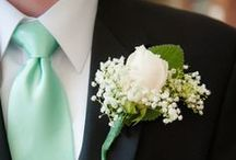 Mint Green Color Palette Inspiration / Mint Green menswear tie and bow tie inspiration for weddings and other formal events.
