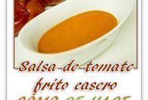 Mis recetas de salsas y cremas / Recetas de salsas y cremas