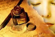 Manuscritos | Carteles | Decoupage / Aunque bajo la tierra mi amante cuerpo esté, escríbeme a la tierra, que yo te escribiré.