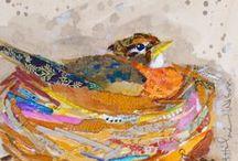 collage/mixed media - birds