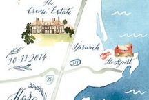 Maps / Illustrated and graphic maps for editorial design.