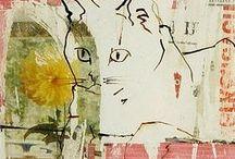 mixed media cats