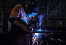 Fabrication / Welding, grinding, machining, measuring. Everything hands on.