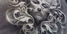 BW & Eric Canete / Desenhos em preto e branco.