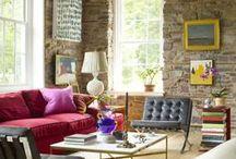 Pop  Colors ♥... / É um estilo marcado por peças coloridas, cores fortes e intensas, compostas com móveis de estilo provençal ou dos anos 40, 50 e 60. Muitas vezes o papel de parede também faz parte da composição dando o it final ao estilo.