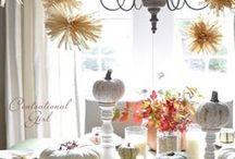 Mesa para la cena de acción de gracias #Thanksgiving / by {Un dulce hogar}