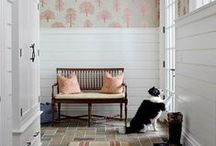 HOME : Welcome Home / front door, portico, front porch, entryway, mudroom, foyer, foyer table