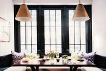 HOME : Room to Dine / Dining table, dining chairs, eat, company, dining rooms
