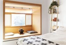 HOME : Nooks + Crannies / Reading Nook, hideaway, cozy space, extra space, books