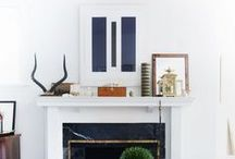 STYLED : Mantle Inspiration / Styling your fireplace, mantle, diy, how-tos, inspiration, ideas
