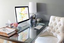 Work spaces I love / I've always wanted a beautiful work area. / by Kelly Elaine