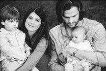 My couplespiration / Jared and Genevieve Padalecki. Jared is on my favorite TV show, Supernatural. They met when Genevieve had a recurring role on the show. Jared is a truly beautiful man, inside and out. And Gen is so cute and a total sweetheart. They're love is so beautiful and I hope to one day have a Jared of my own. *And now they have two adorable little boys, Thomas and Shepard!* / by Kelly Elaine