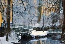 "Bridges / ""We build too many walls and not enough bridges.""  Isaac Newton  / by Cinda Justice"