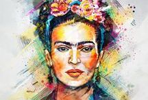 Frida / All about my favorite Mexican artist; the incredibly talented, unique and beautiful Frida Kahlo ❤️ / by Stephanie Cabe