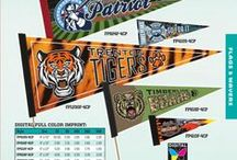 Color Us Happy! / So many of our Fan Favorites are now available with a FULL COLOR Imprint.  BUZZUS for more info info@schoolspiritstore.com