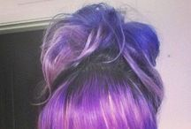Hair Dye / Ombré / Balayage / Beautiful multicoloured hair including dip dyed, balayage, ombré and bold block colour hair styles.