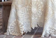 Granny's trunk / Laces, doilies and beautiful upcycles