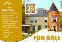 Real Estate Flyer (DIY) / Print On Demand: Active QR code flyers for real estate company (Custom QR code offered)