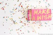 The Party Starts Here. / Party inspiration for any celebration big or small!
