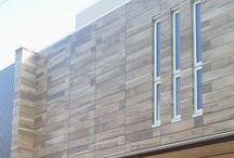 Project - Rivestimento esterno / Un interessante progetto giapponese utilizza Soleras Avana di #abkemozioni come rivestimento esterno