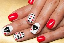 VALENTINE NAILS / Nails themed for love and Valentine's Day