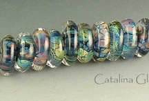lampwork beads Catalina Glass
