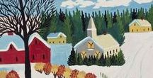 MAUD LEWIS / Mayberry Fine Art is actively seeking to purchase original paintings by Maud Lewis....contact us at info@mayberryfineart.com