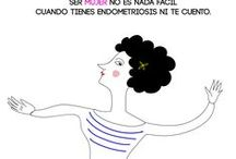 Endometriosis la punta del iceberg / endometriosis, illustration, humor