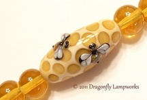 lampwork beads Dragonfly