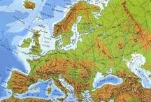 Geografia 1 EUROPA FISICA-ITALIA