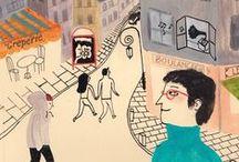 Illustration - CiTy  S c E n e S / by Laurie Keller