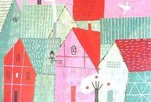 Illustration - HoUsEs & b U i L d i N g S / by Laurie Keller