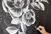 Chalkboard / Beautiful chalkboard designs. #chalkboard