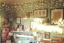 Crafty Studio Space / craft rooms and storage ideas