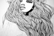 Hair // Study / #Hair, #cheveux, #dessin, #draw