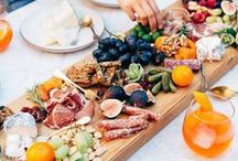 Board / Charcuterie: Meat & Cheese Board Inspiration. Ideas on how to beautifully plate meat and cheese boards utilizing both fresh and dried fruits, nuts, crackers, and more!