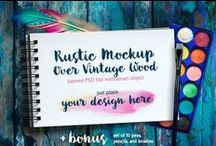 Graphic Design / Graphic design resources, mockups, logos, fonts and more. #graphicdesign #fonts #logos #bundles #mockups #icons