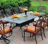 Hanamint Grand Tuscany Patio Furniture / Cast Aluminum has long proved itself to be durable and low maintenance. The Grand Tuscany by Hanamint is one of our most popular groups to date. Elegant, comfortable and well made, this collection has so many pieces and options to add down the road. Besides the dining collection with many different sizes of tables, there are also bar height, seating groups and occasional pieces.