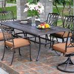 Hanamint Mayfair / One of Hanamint's newest collections, the Mayfair is a transitional design. Cast aluminum will never rust, so this set is easy to own with low maintenance. There are also many other pieces in this collection. If you are looking to furnish multiple outdoor rooms, check out the Mayfair's seating group and sectional.