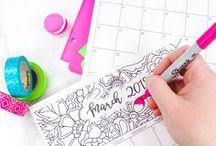 Coloring Pages / Get inspired and melt away your stress with these fun adult coloring pages!