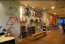 Local Bike Shops & design we like. / Inspiring bicycle shops & spaces around the world.
