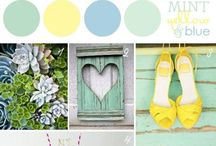 Wedding Color Palettes / Color palette inspiration for the perfect #wedding. #weddingplanning