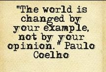 ~Paulo Coelho / Paulo Coelho, is a Brazilian lyricist and novelist. He has become one of the most widely read authors in the world today. He is the recipient of numerous international awards, amongst them the Crystal Award by the World Economic Forum.