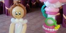 Primera comunion. / Decoraciones con globos # Ideas de decoraciones de comunion.