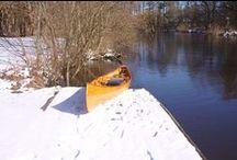 Kanu fahren im Winter / Bilder vom Kanufahren im Winter